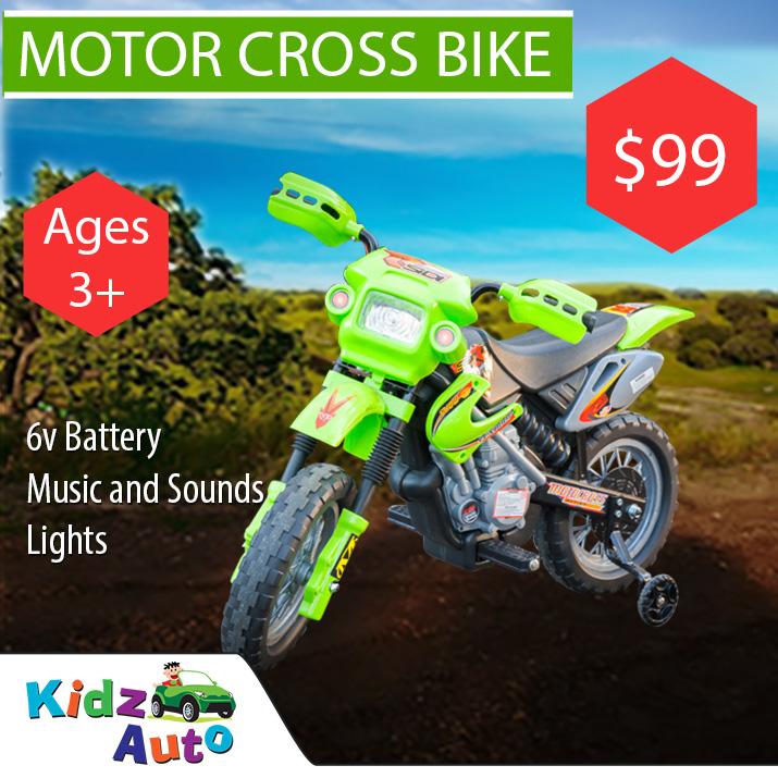 Motor Cross Green Ride-on Bike