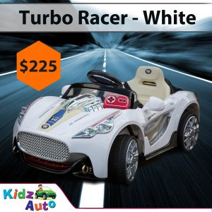 Turbo-Racer-White-Ride-on-Car-Feature