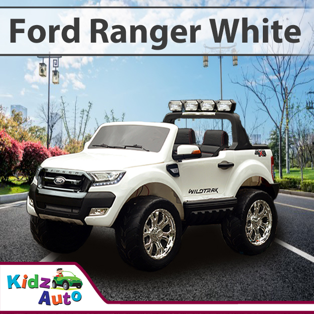 Licensed Ford Ranger White Electric Ride On Toy Cars
