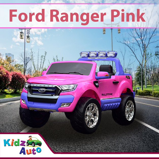24v Licensed Ford Ranger 2018 Pink Electric Ride On