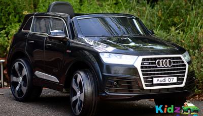 Audi-Q7-Black-Ride-on-Car-Front-Side