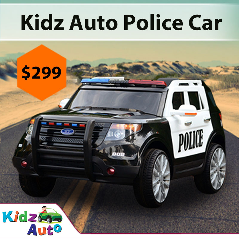 Electric Ride On Cars >> Ride On Police Car