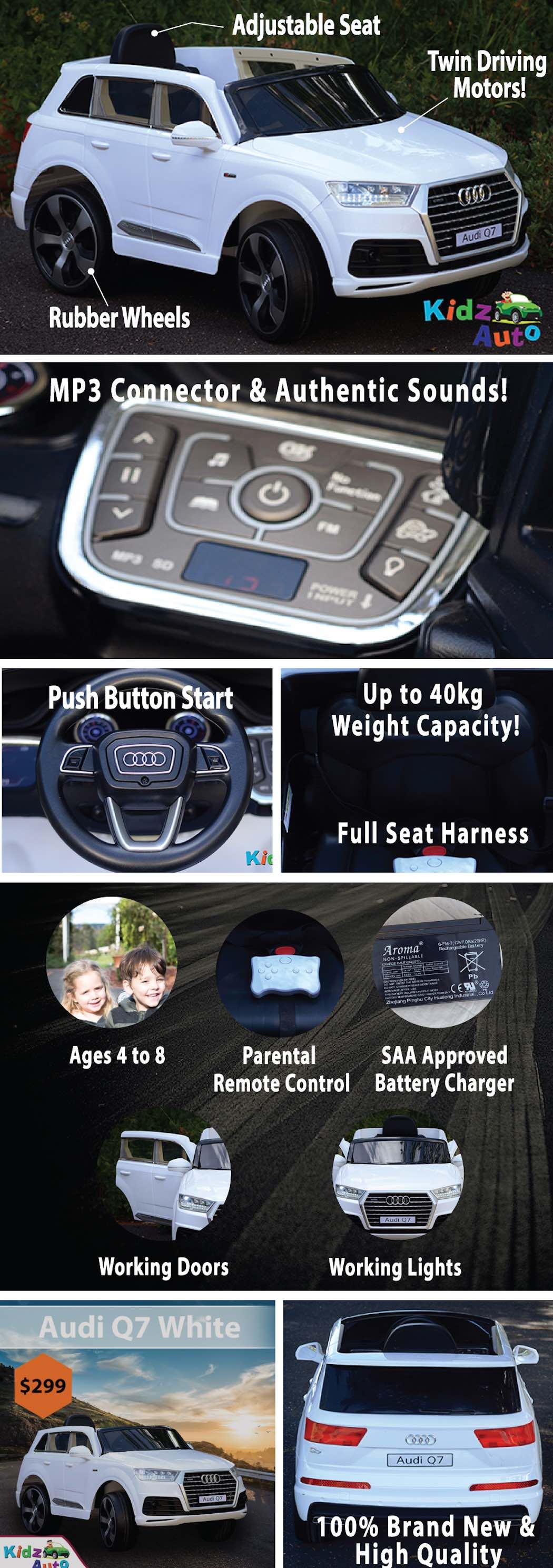 Licensed Audi Q7 - White - Product Specs