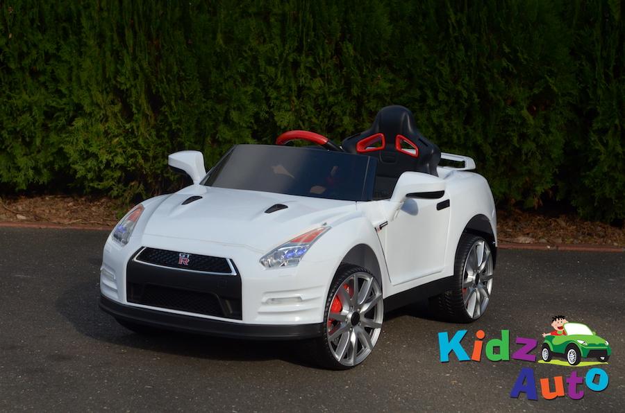 Licensed Nissan Gtr R35 White Ride On Cars For Kids Australia